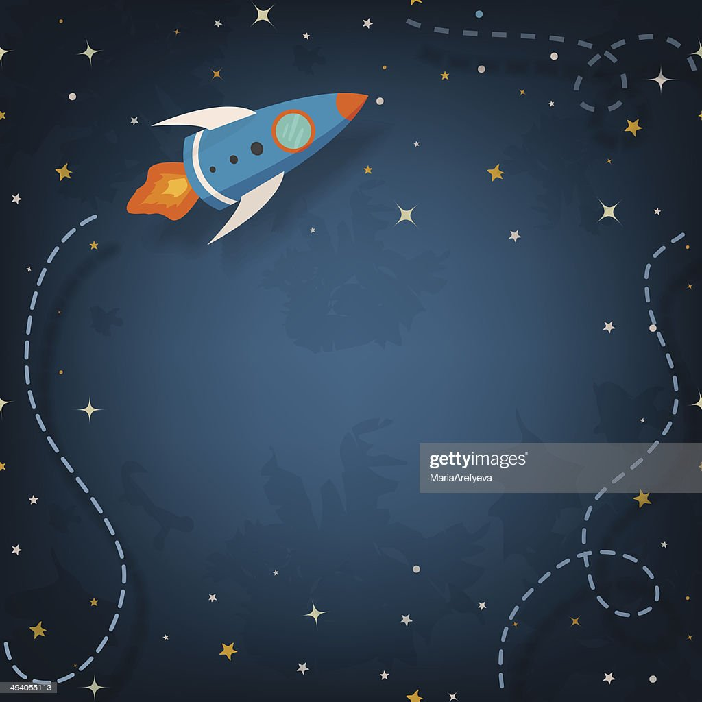 Spaceship illustration with space for your text