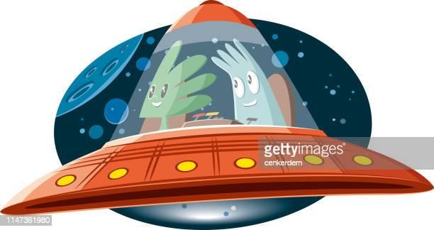 spaceship - saucer stock illustrations