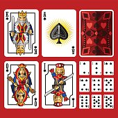 Spade Suit Playing Cards Full Set