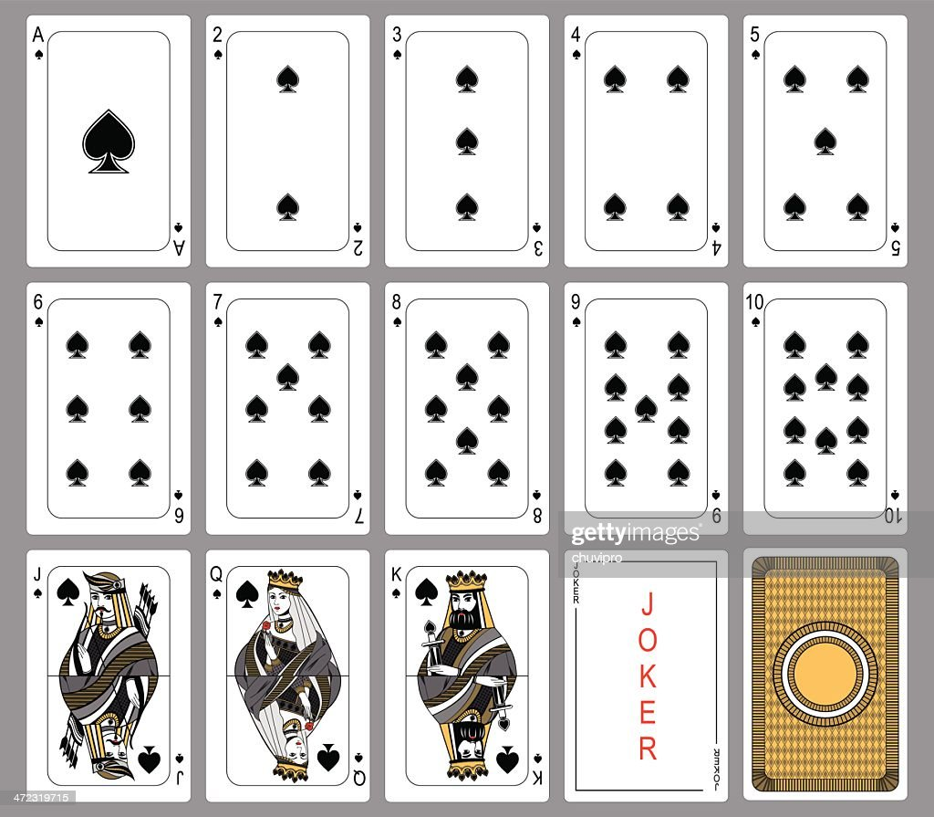 Spade suit playing cards