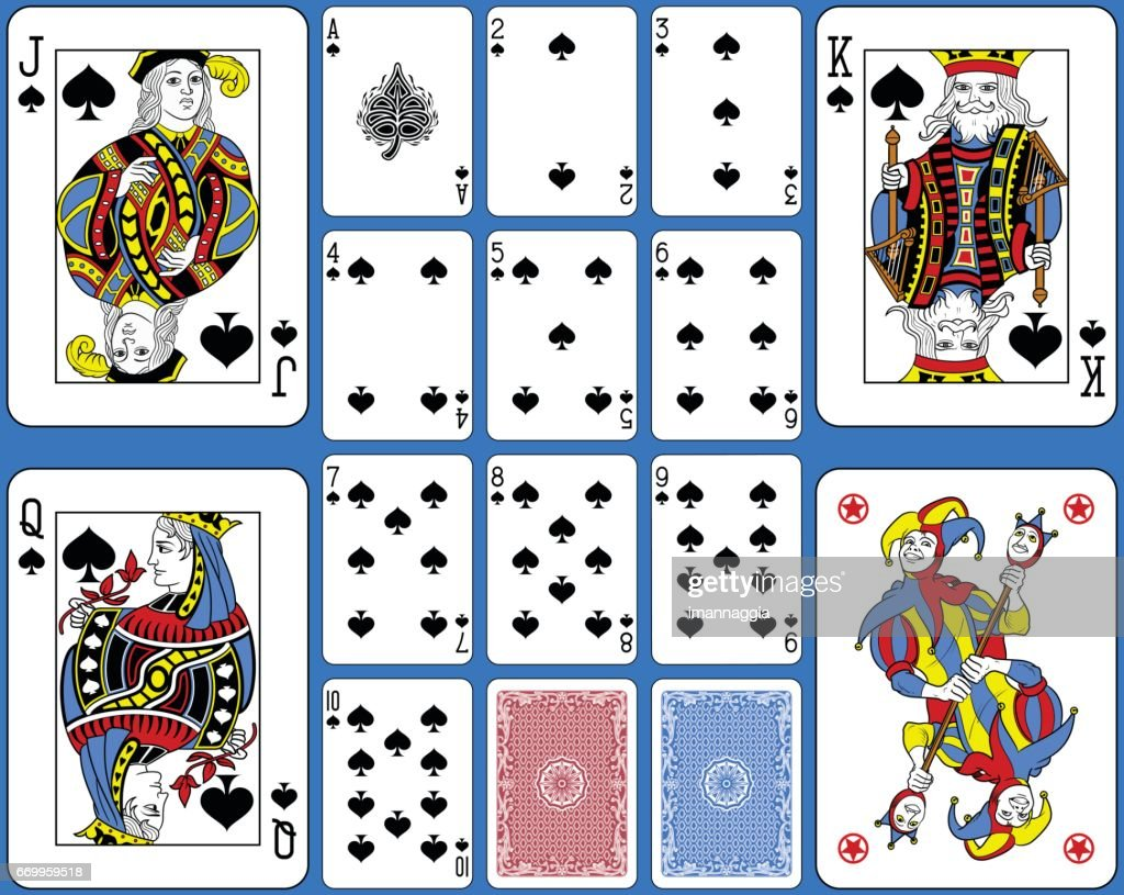 Spades Suite Playing Cards French Style