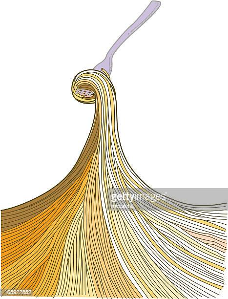 スパゲッティ - 分かれ道点のイラスト素材/クリップアート素材/マンガ素材/アイコン素材