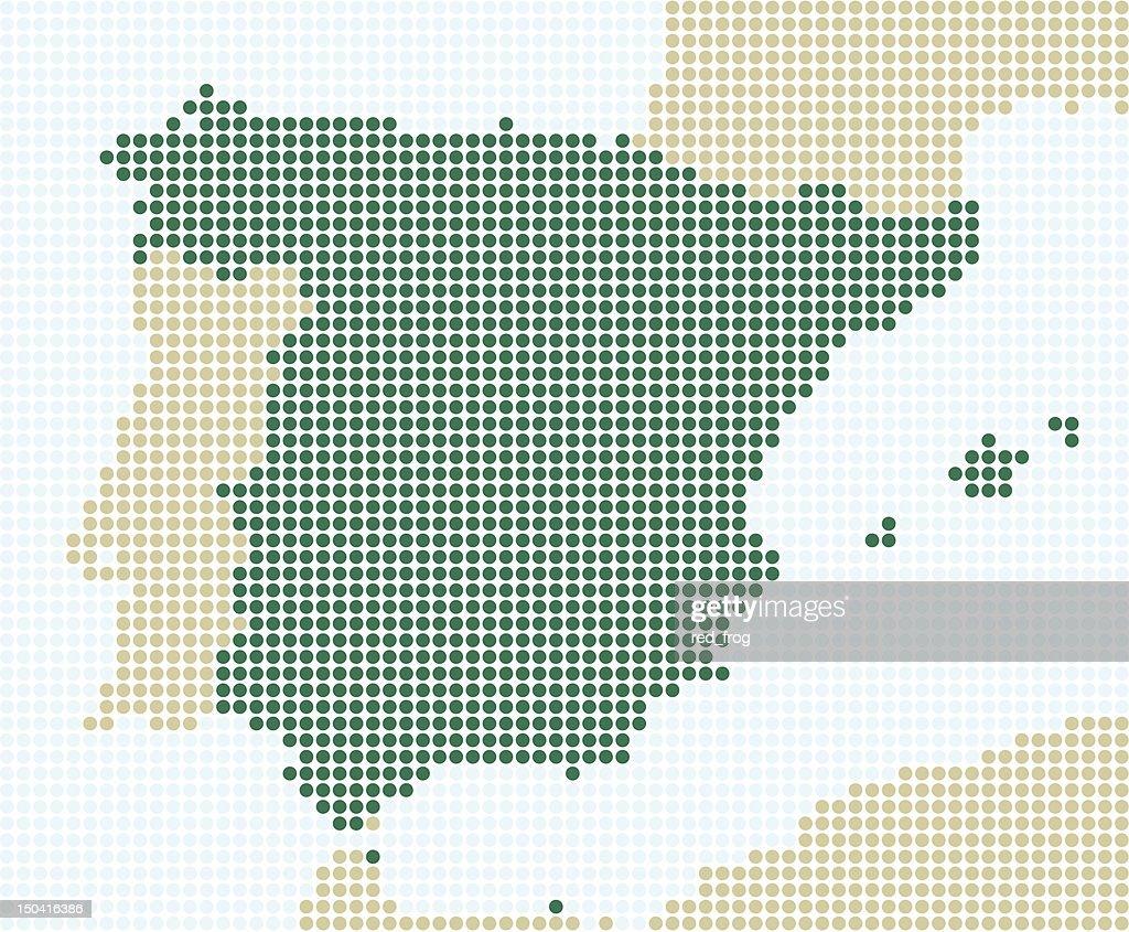 Spain - 1 point = 20 km : stock illustration