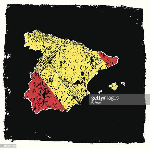 spain abstract grunge series - comunidad autonoma de valencia stock illustrations