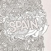 Spain doodle background
