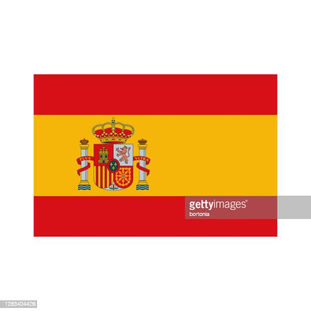 spain flag icon on transparent background - spanish culture stock illustrations