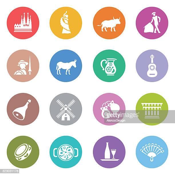 ilustraciones, imágenes clip art, dibujos animados e iconos de stock de icono de españa - toreo