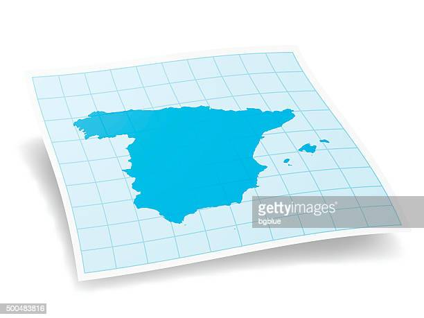 Spain Map isolated on white Background