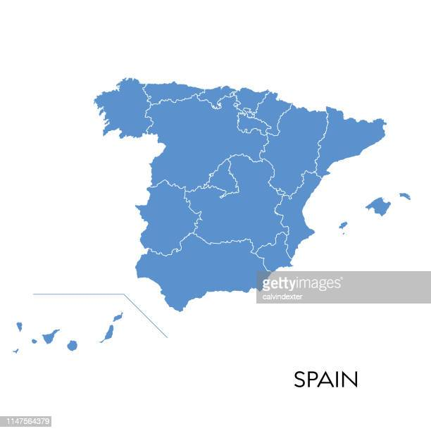spanien map - spanien stock-grafiken, -clipart, -cartoons und -symbole