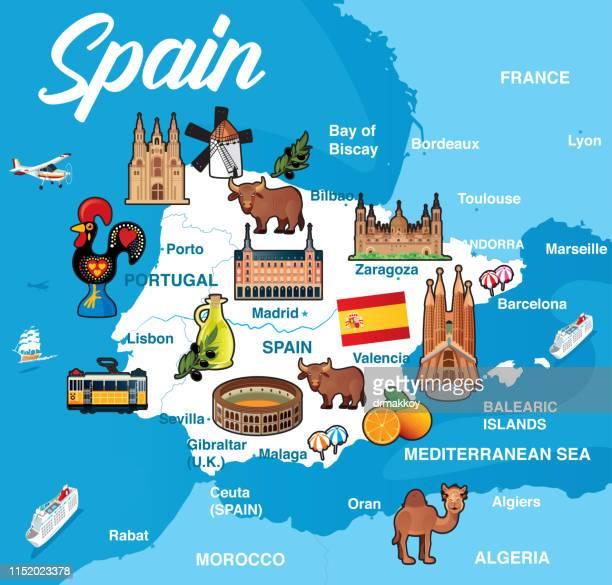 spanien map - valencia spain stock-grafiken, -clipart, -cartoons und -symbole