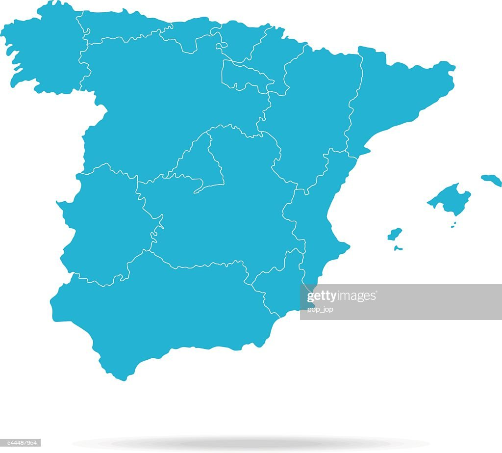 Spain Map : Stock Illustration