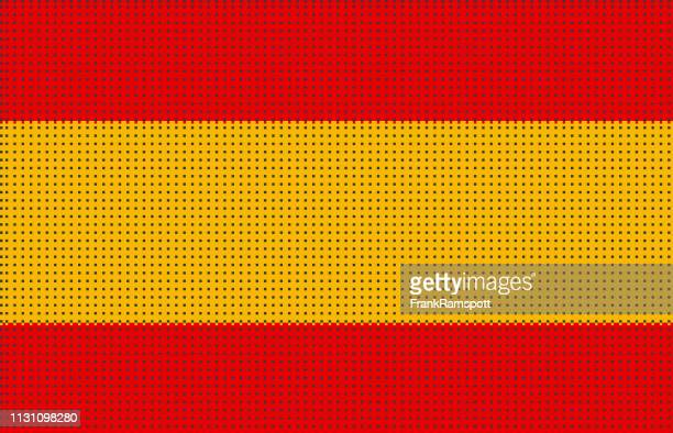 Spanien pixelte Vektorflagge