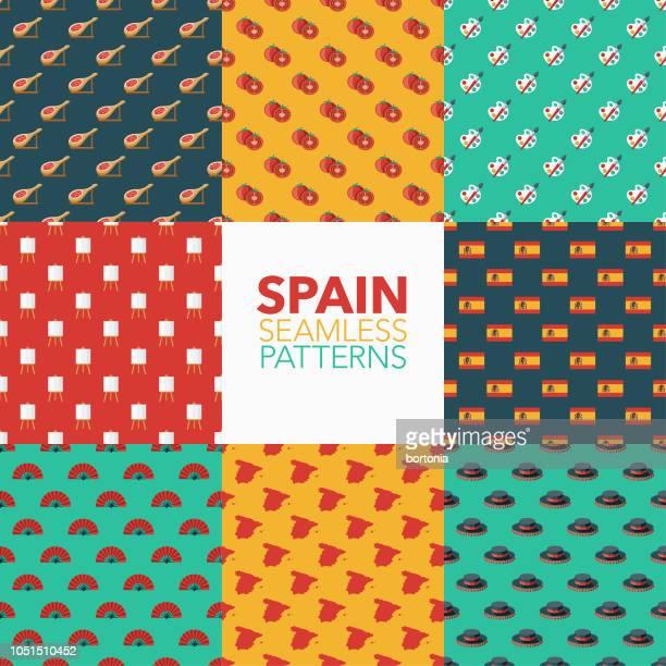 Spain Seamless Pattern Set