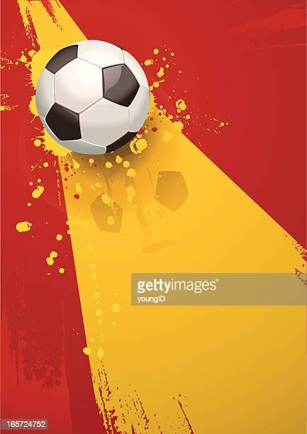 ilustraciones, imágenes clip art, dibujos animados e iconos de stock de fondo de fútbol de españa - competición de fútbol