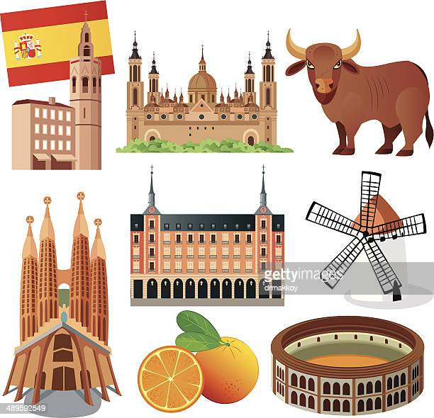 spain symbols - seville stock illustrations, clip art, cartoons, & icons