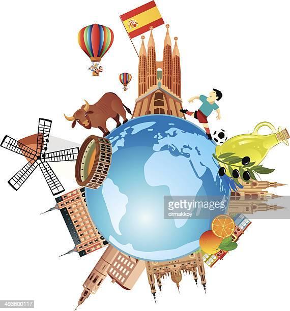 ilustraciones, imágenes clip art, dibujos animados e iconos de stock de españa viajes - toreo