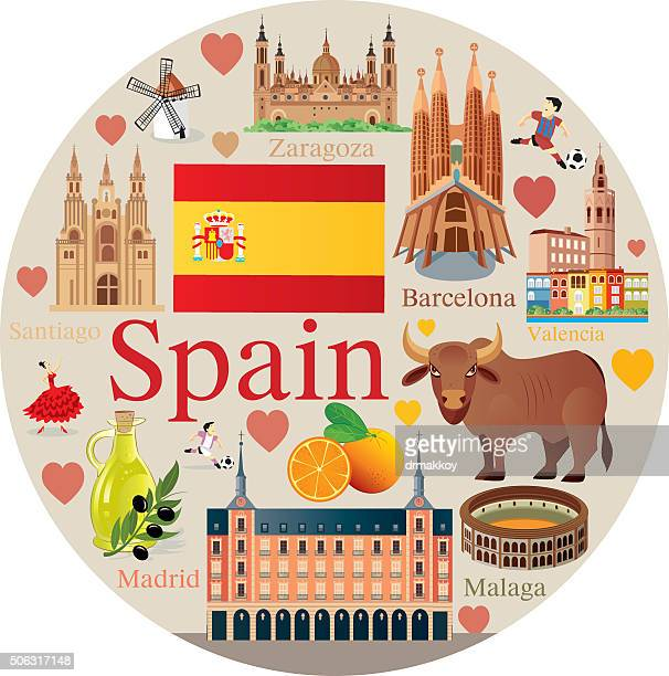 spain travel - seville stock illustrations, clip art, cartoons, & icons