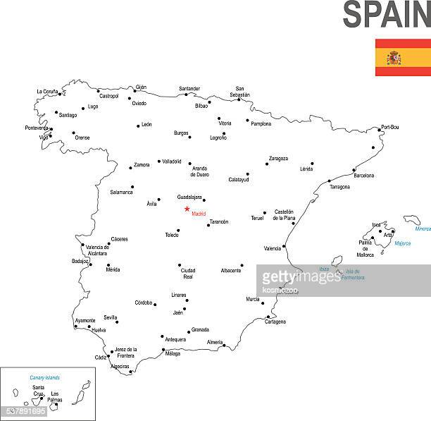 spain - iberian peninsula stock illustrations, clip art, cartoons, & icons