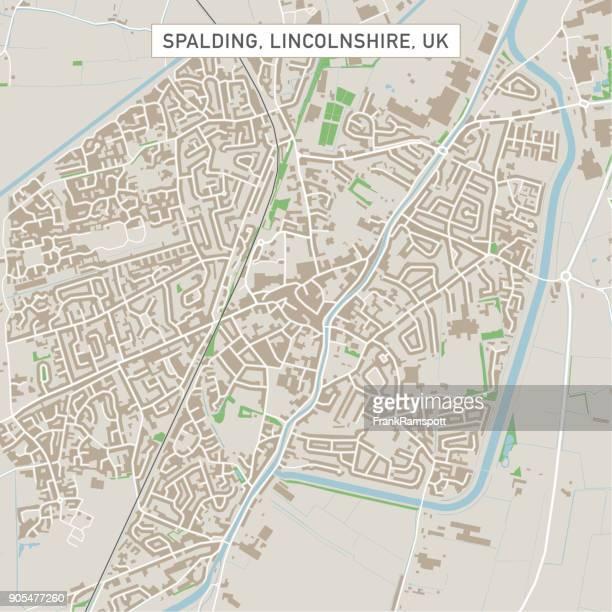 Spalding Lincolnshire UK City Street Map