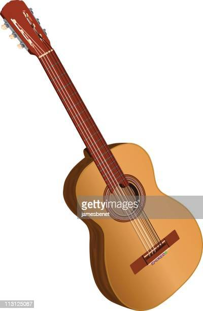 Spanish Acoustic Guitar (Vector)