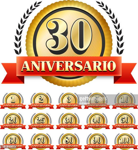 Spanish Language Custom Anniversary Badge