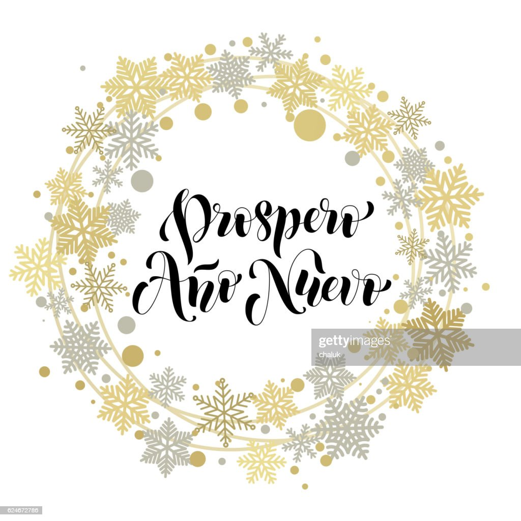 Spanish text for happy new year greeting card ano nuevo vector art spanish text for happy new year greeting card ano nuevo vector art m4hsunfo