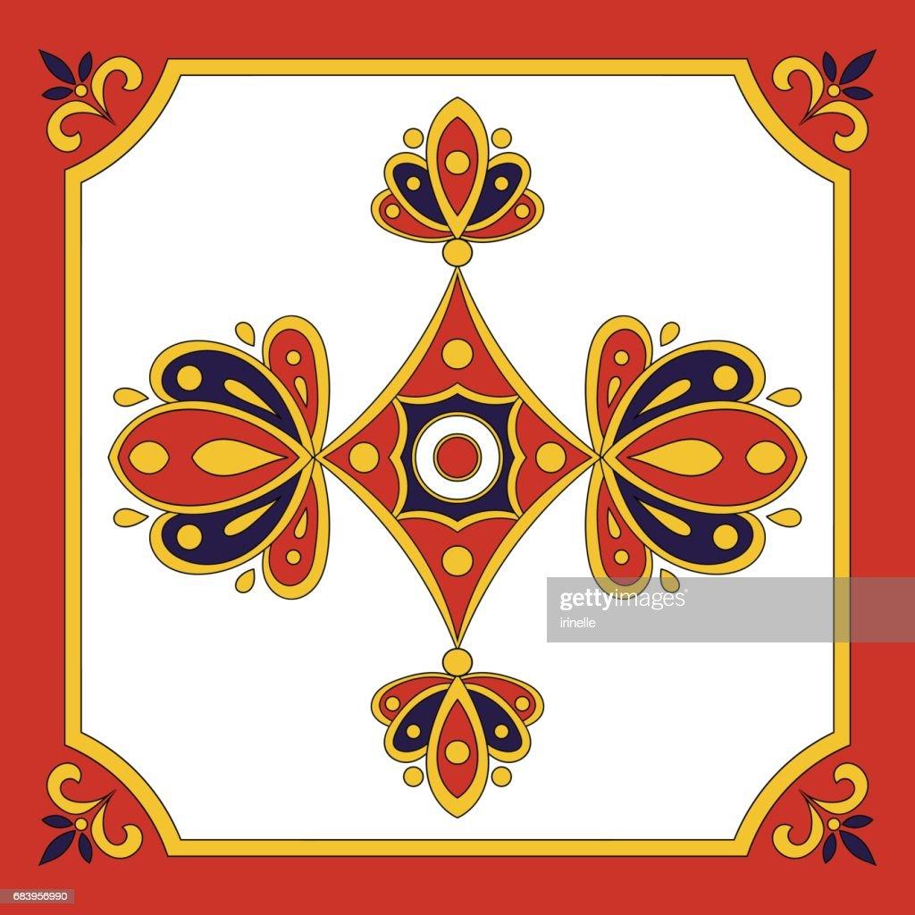 Spanish tile pattern