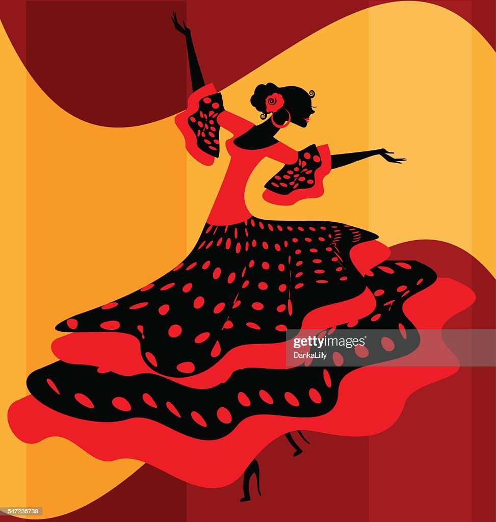 Spanish woman dancer