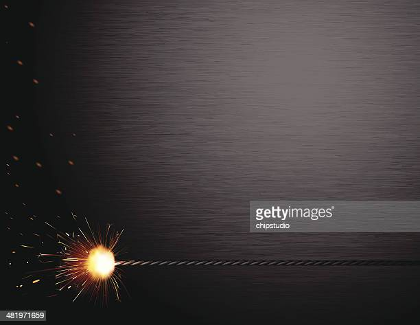 spark brushed steel - illuminated stock illustrations