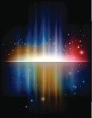 Sparkles and a colorful rainbow aurora