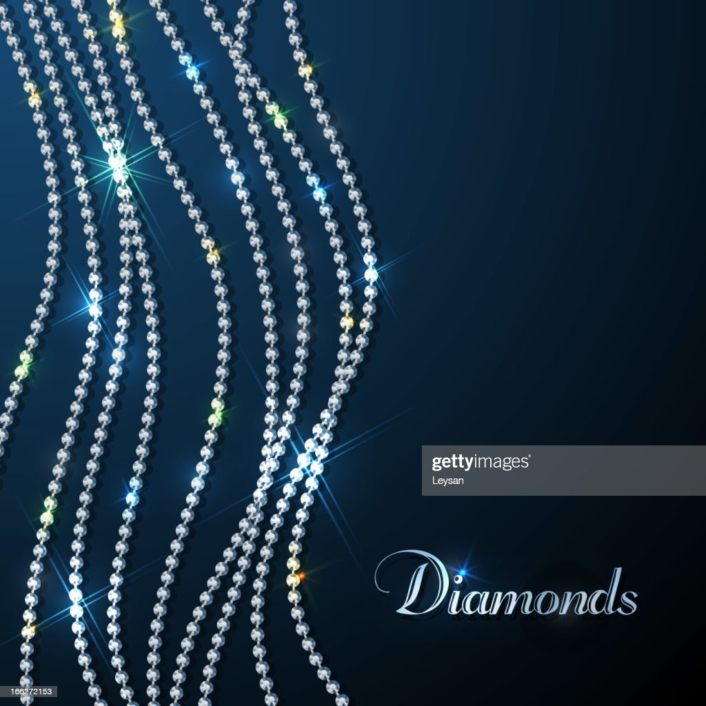 Sparkling diamonds background