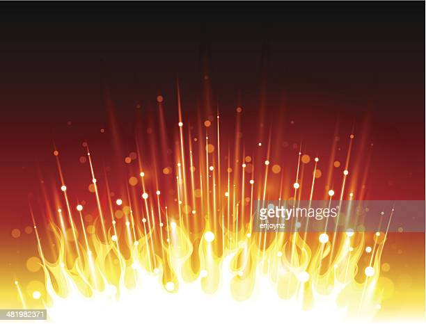sparkling fire background - shooting a weapon stock illustrations, clip art, cartoons, & icons