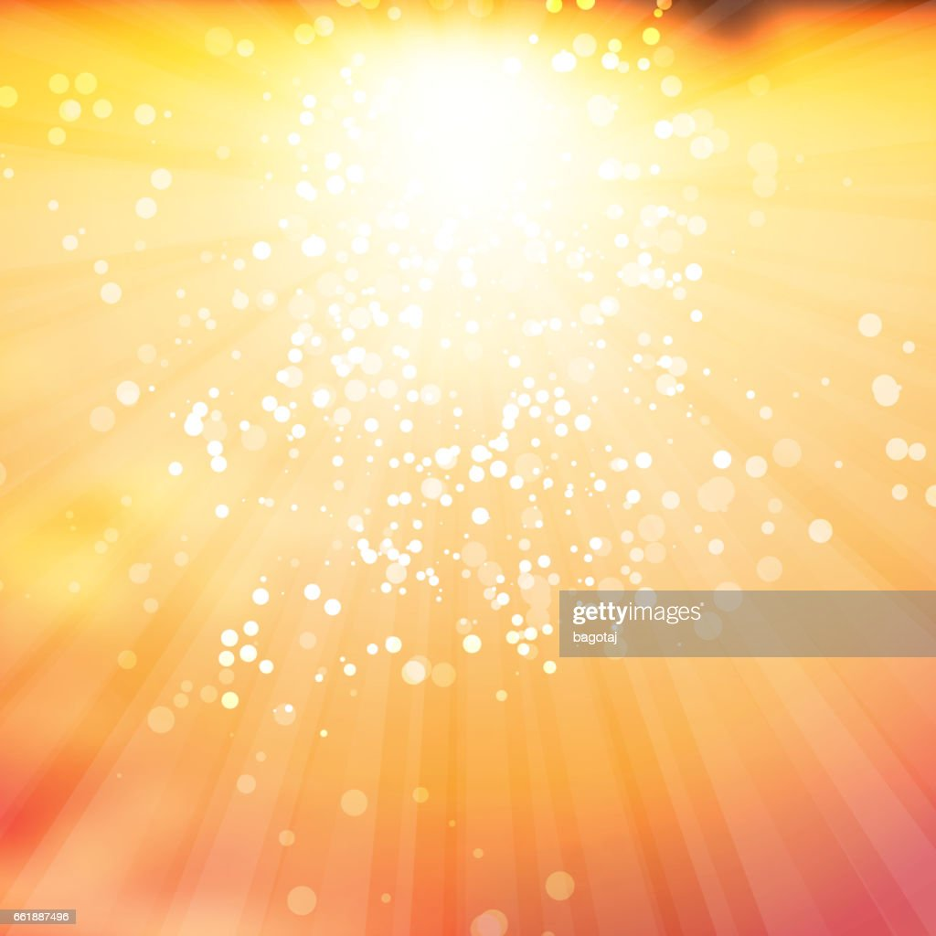 Sparkling Sunrays Design Template Abstract Blurred Background Vector ...