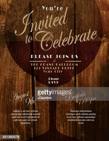 Sparkling wine tasting invitation template design vector art sparkling wine tasting invitation template design vector art getty images stopboris Image collections