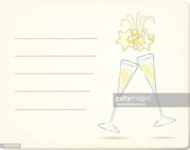 ilustrações de stock, clip art, desenhos animados e ícones de vinhos espumantes e vinhos espumosos (celebração invenção). - bebe chegando