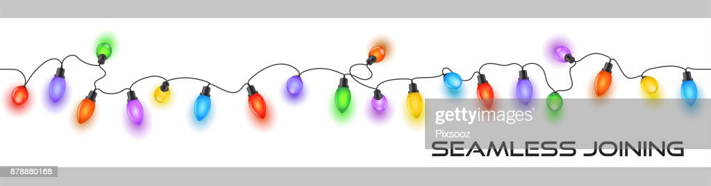 Sparkly festive christmas fairy lights on a cable decoration multicolored