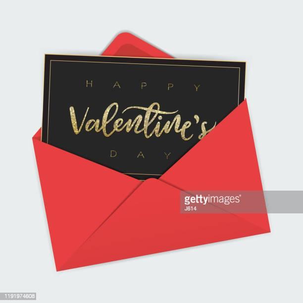 funkelnde valentine - briefumschlag stock-grafiken, -clipart, -cartoons und -symbole