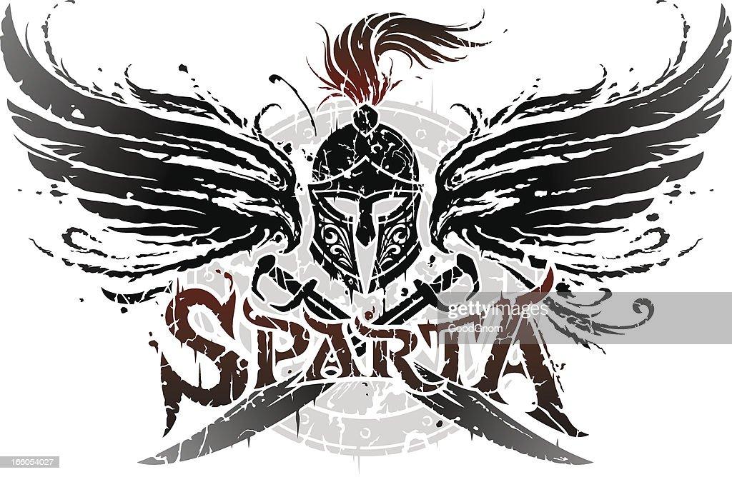Sparta emblem : stock illustration