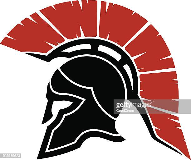 spartan helmet - gladiator stock illustrations