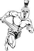 Spartan helmet warrior