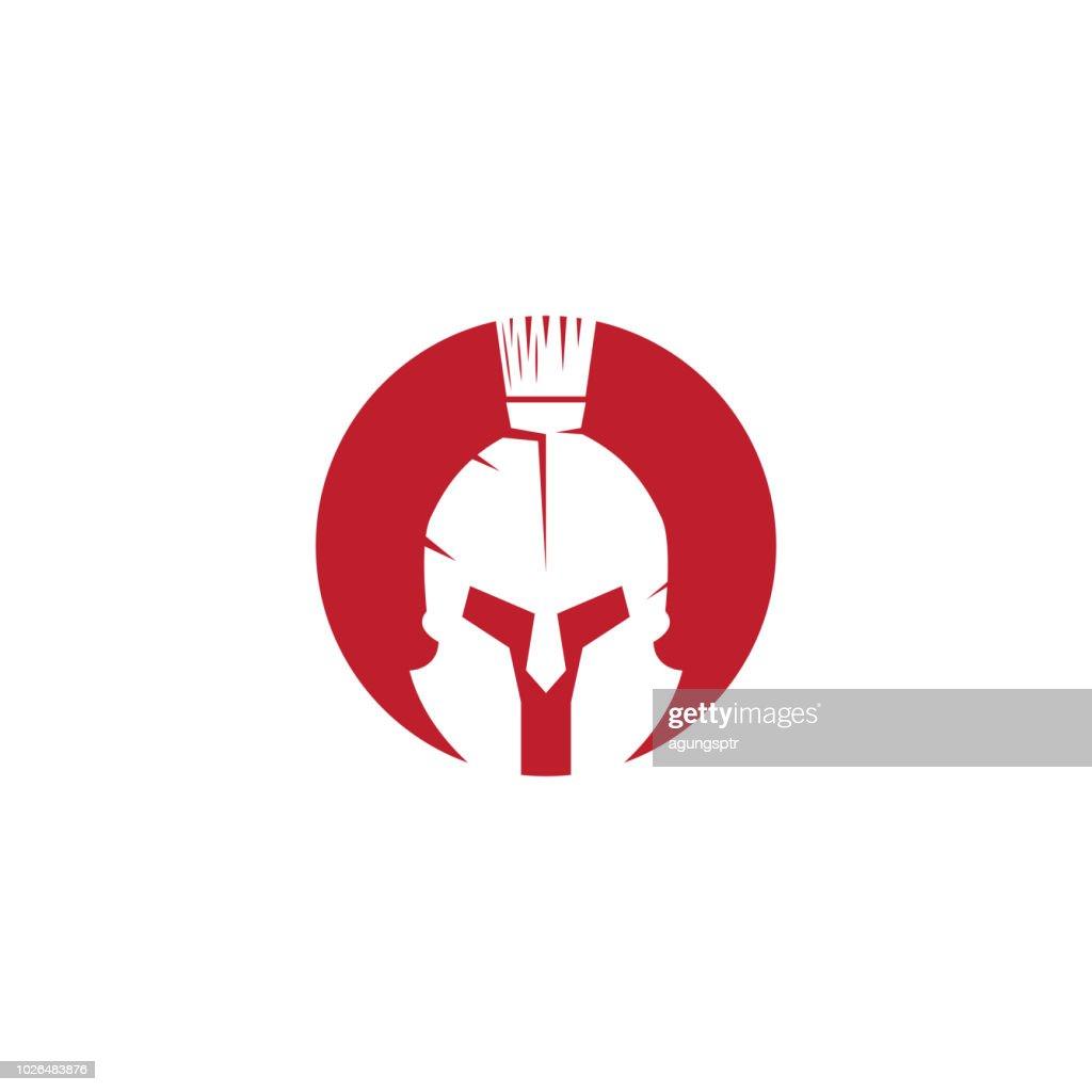 Spartan logo design template