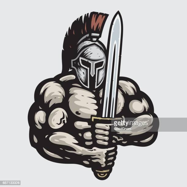 spartan - sparta greece stock illustrations, clip art, cartoons, & icons