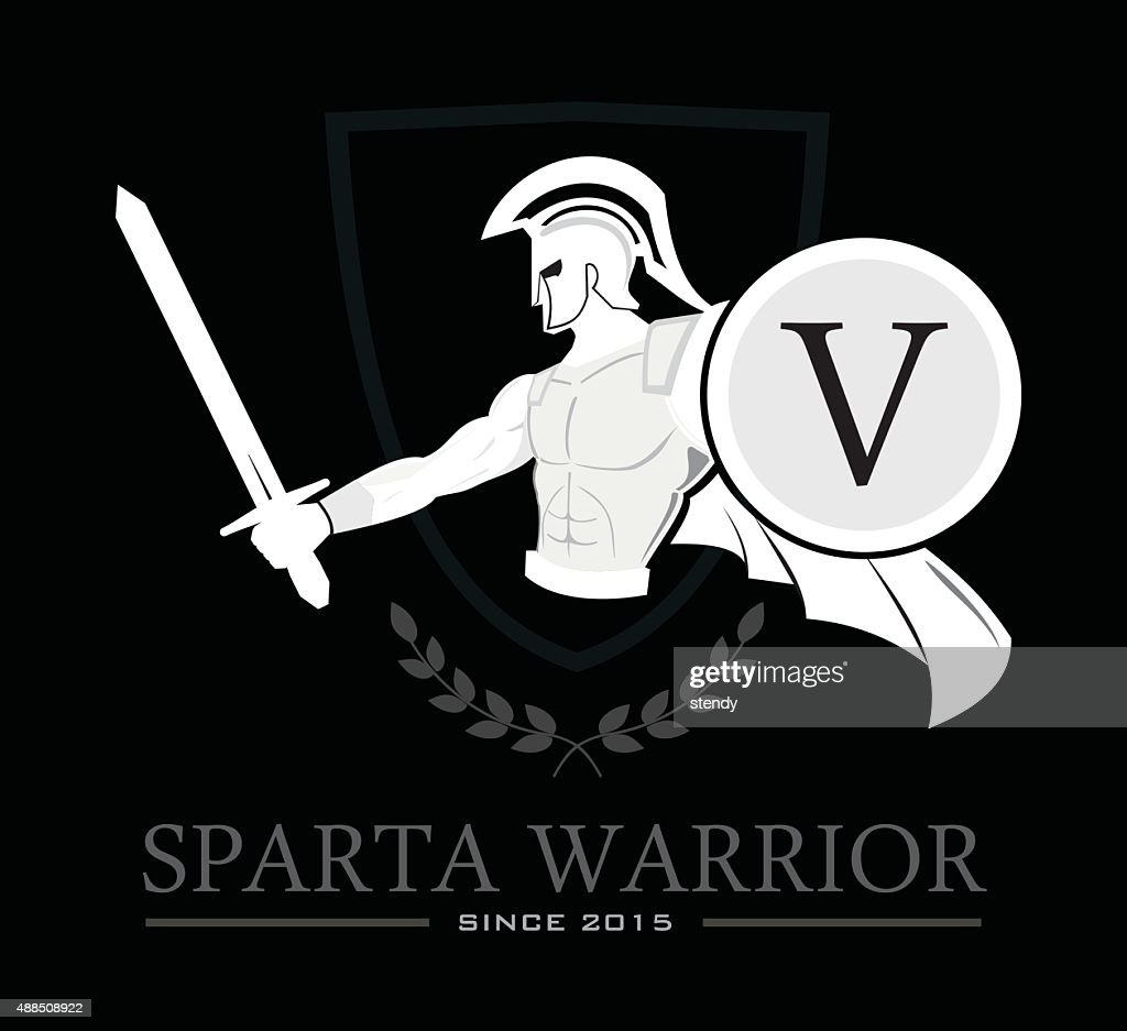 Spartan Warrior holding shield and sword