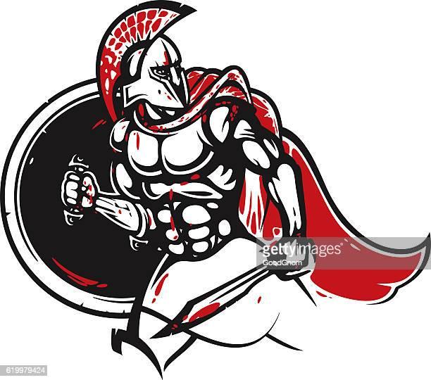 spartan warrior - sparta greece stock illustrations, clip art, cartoons, & icons