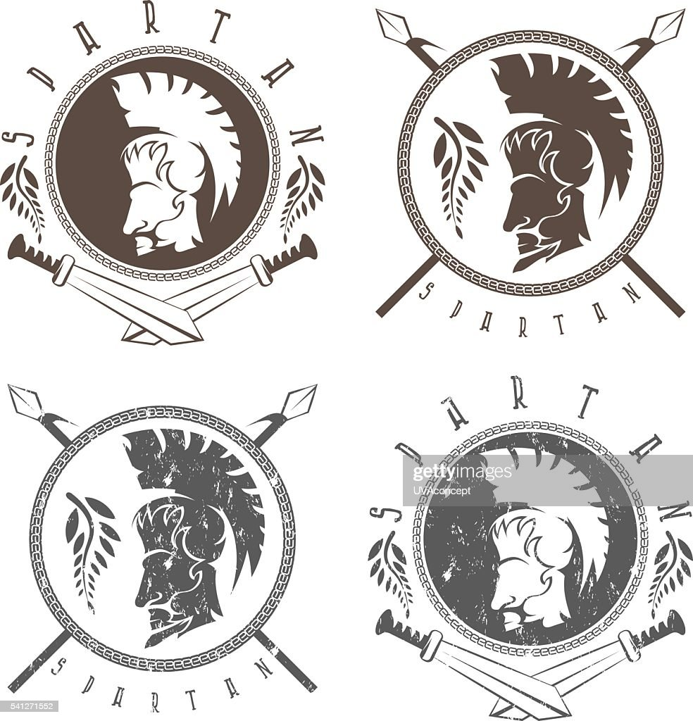 spartan warrior with spears ,swords and shield