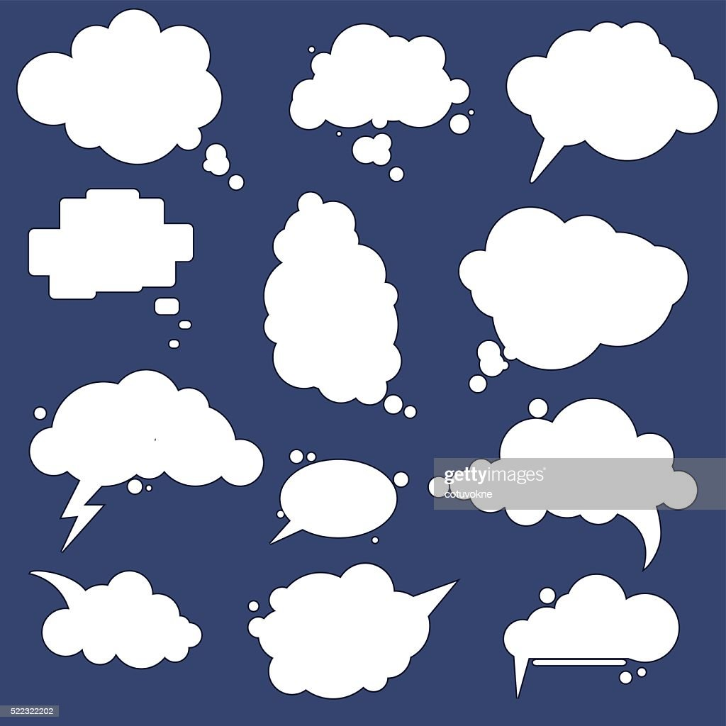 speak cloud bubbles set