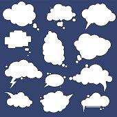 speak cloud bubbles set