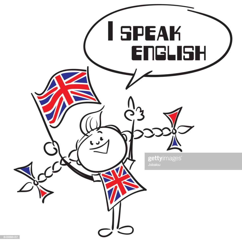 I Speak English : stock illustration