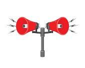 Speaker Announcement Warning System.