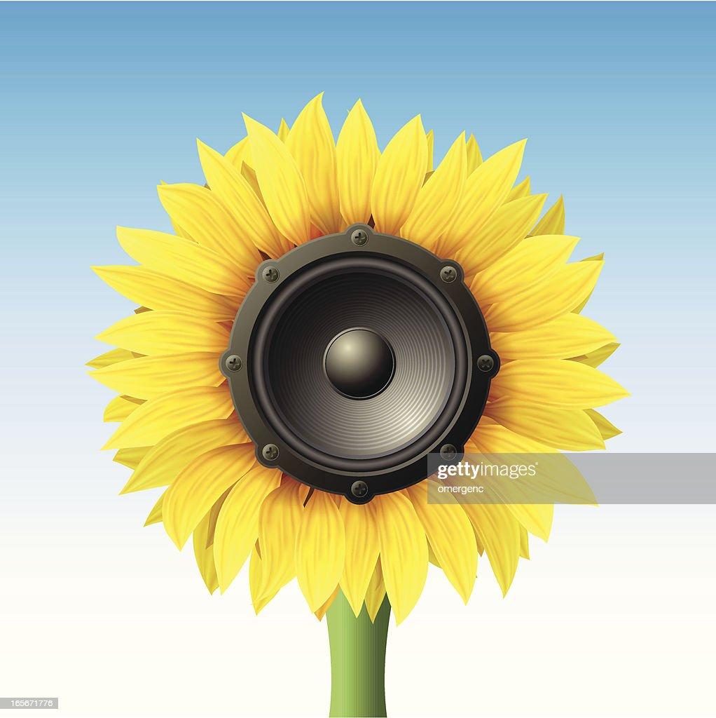 speaker as sunflower